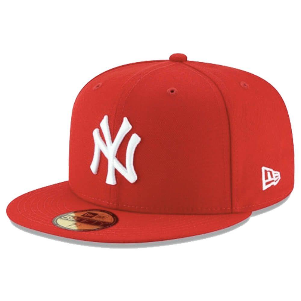 Boné New Era Aba Reta 5950 MLB NY Yankees Basic Colors Vermelho