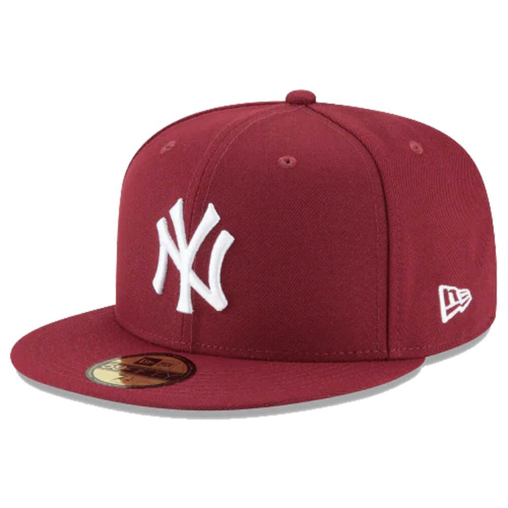 Boné New Era Aba Reta 5950 MLB NY Yankees Basic Colors Vinho