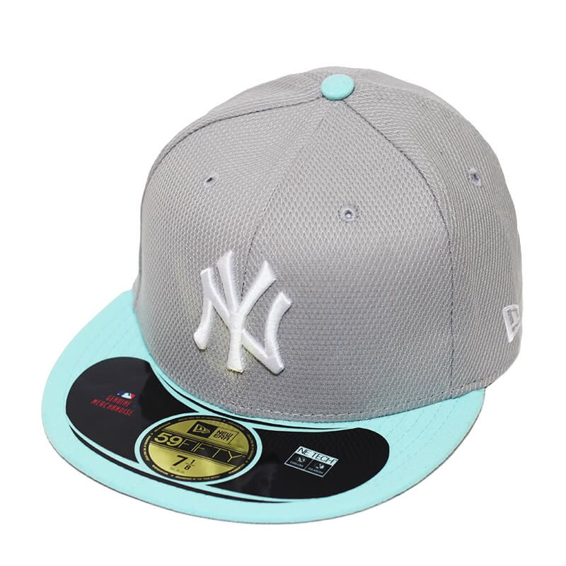 Boné New Era Aba Reta 5950 MLB NY Yankees Diamond Era Pop Cinza
