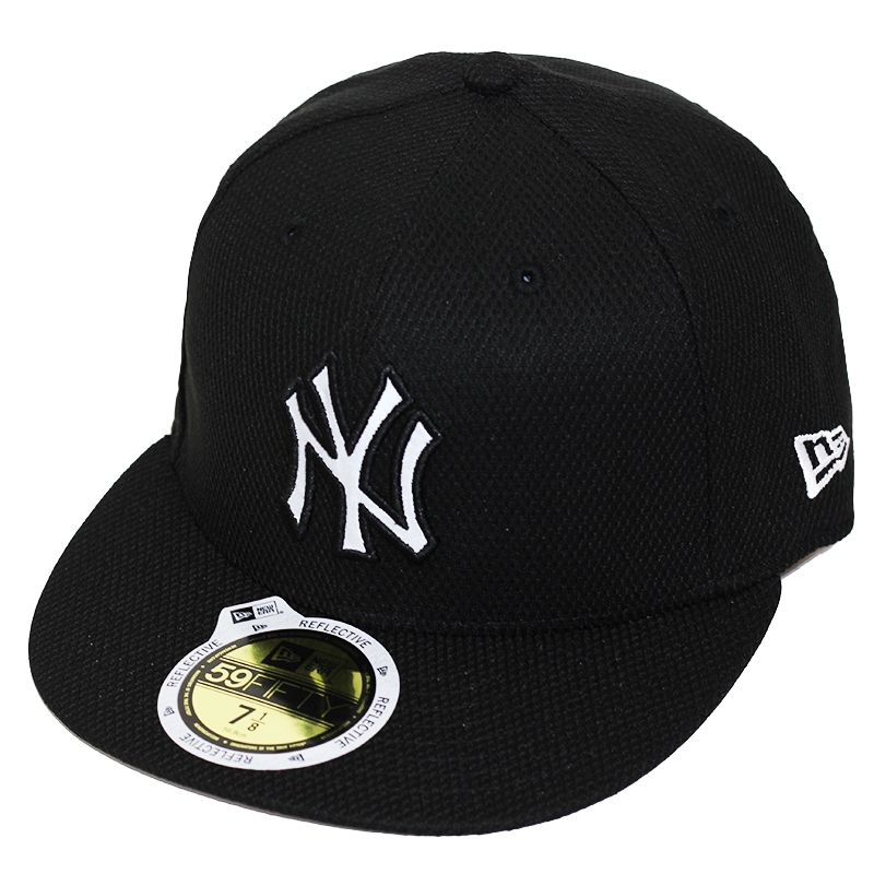 Boné New Era Aba Reta 5950 MLB NY Yankees Diamond Reflect