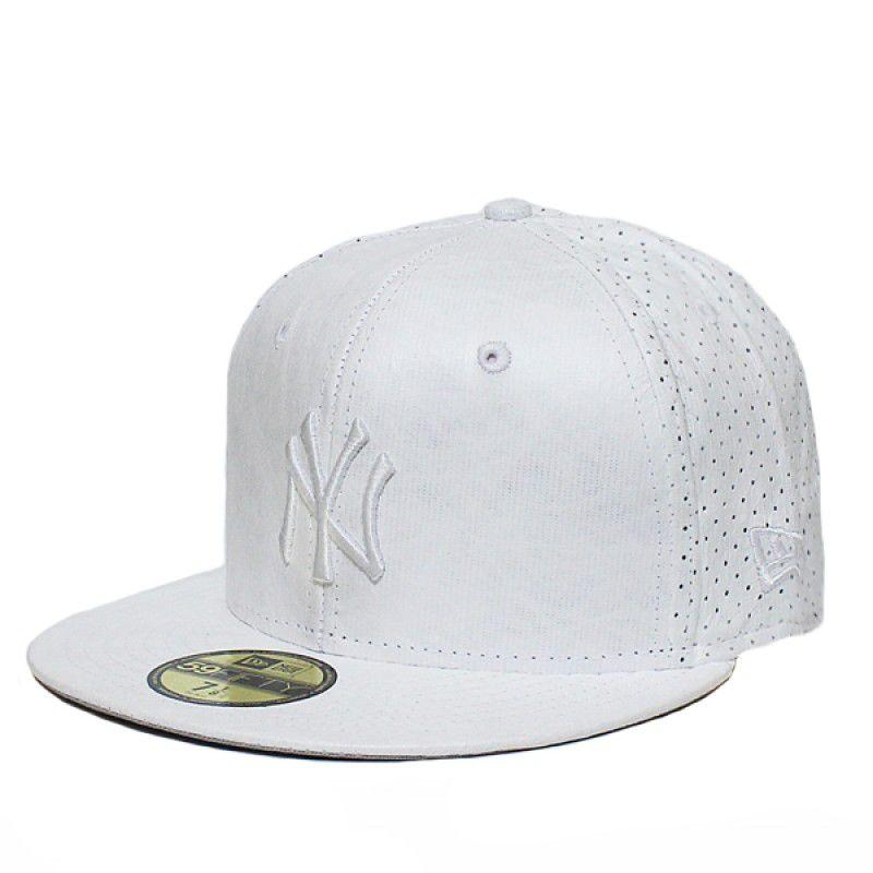 Boné New Era Aba Reta 5950 MLB NY Yankees Life White