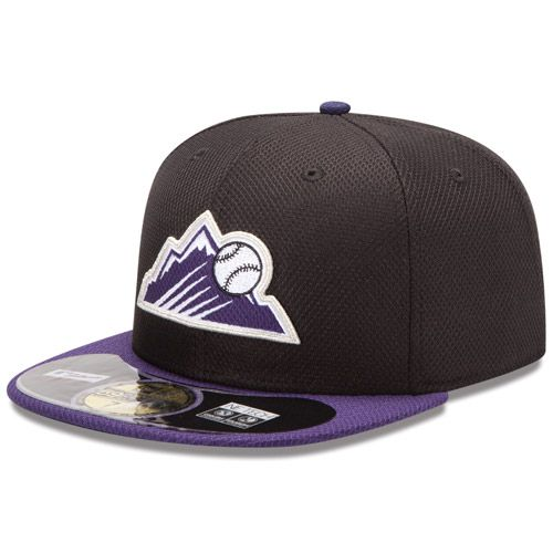 Boné New Era Aba Reta 5950 MLB Rockies Diamond Era