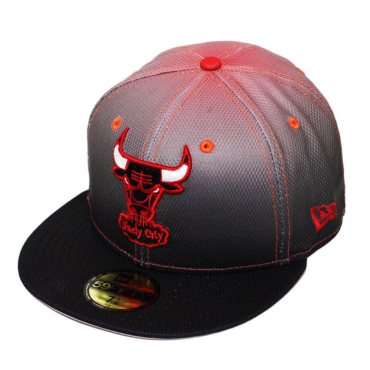 Boné New Era Aba Reta 5950 NBA Chicago Bulls Gradation