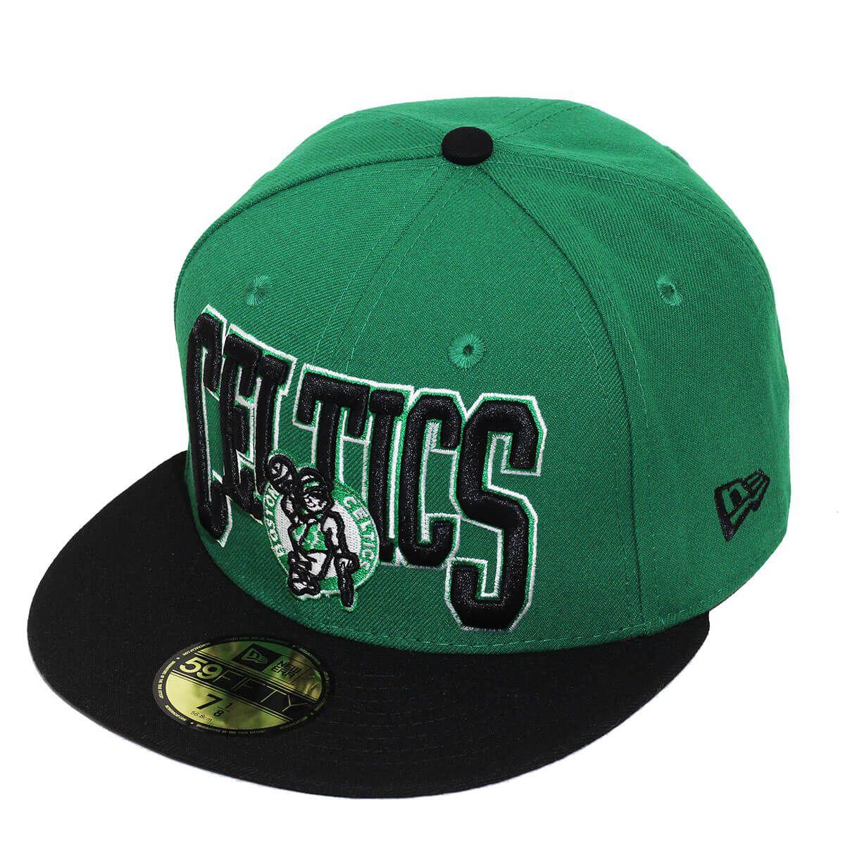 Boné New Era Aba Reta 5950 NBA Celtics 2Tone Script
