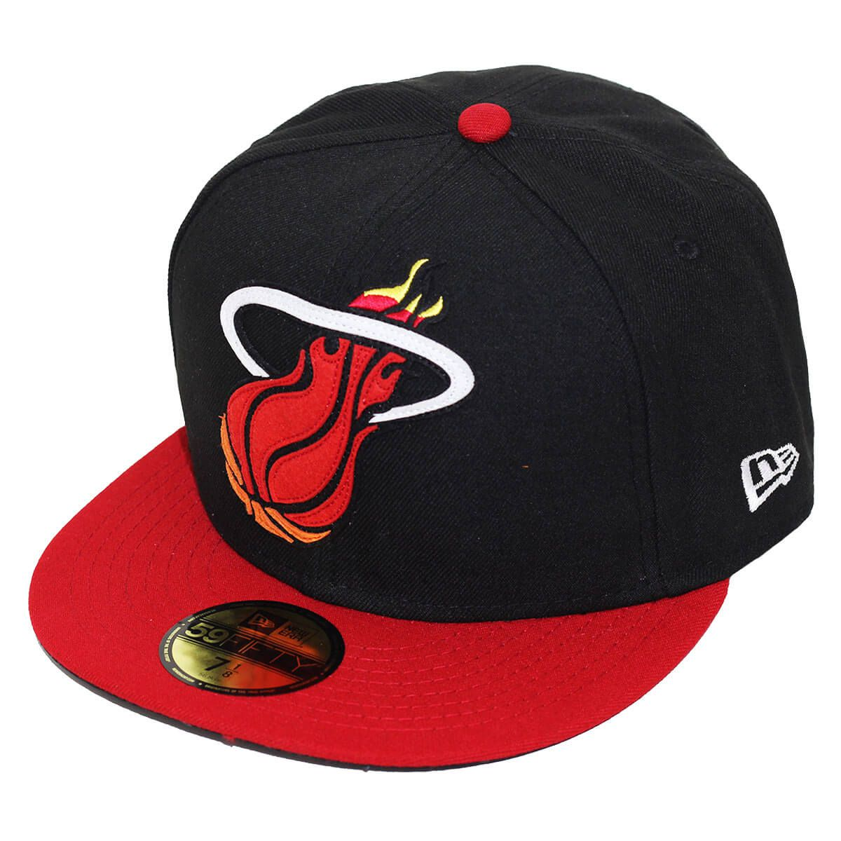 Boné New Era Aba Reta 5950 NBA Heat OS Felt