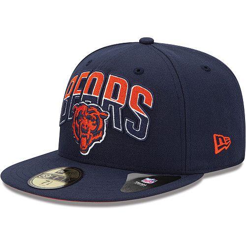 Boné New Era Aba Reta 5950 NFL Bears Draft Team