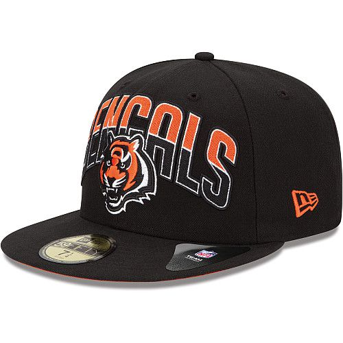 Boné New Era Aba Reta 5950 NFL Bengals Draft Team