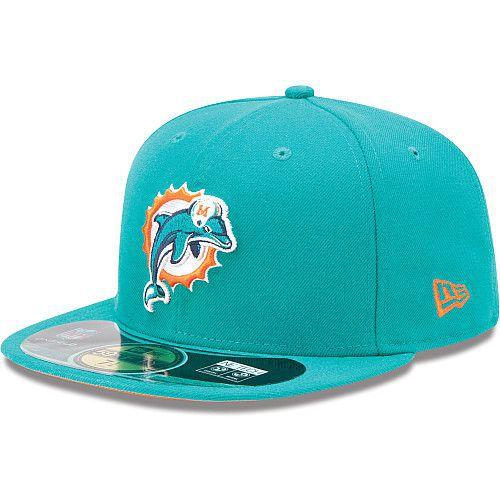Boné New Era Aba Reta 5950 NFL Dolphins Game