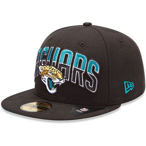Boné New Era Aba Reta 5950 NFL Jaguars Draft Team