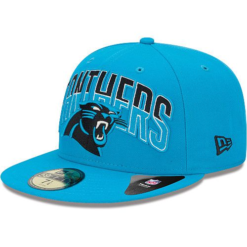 Boné New Era Aba Reta 5950 NFL Panthers Draft Team