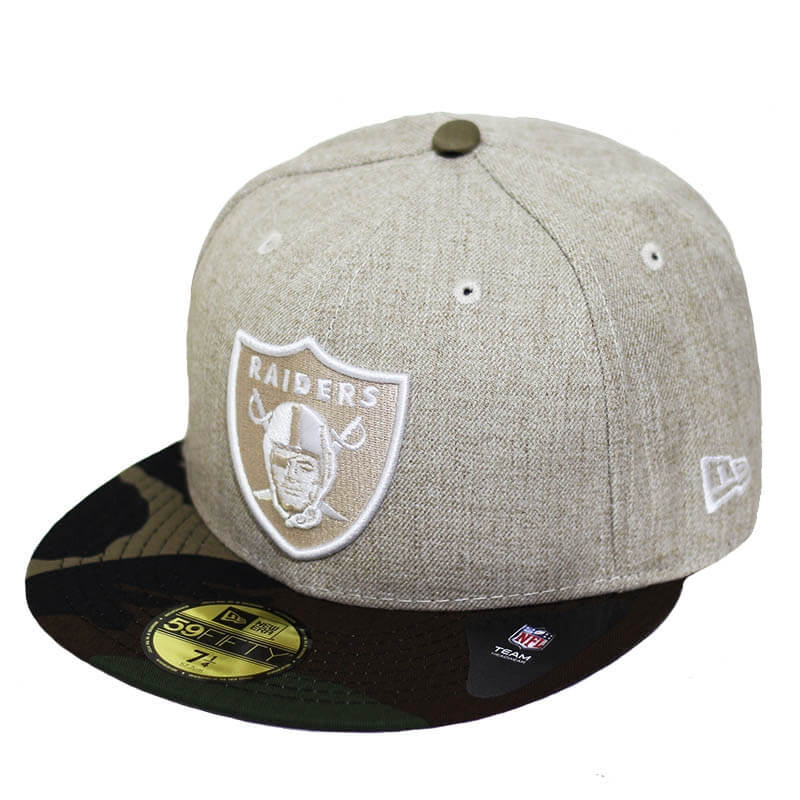 Boné New Era Aba Reta 5950 NFL Raiders Heather Camo