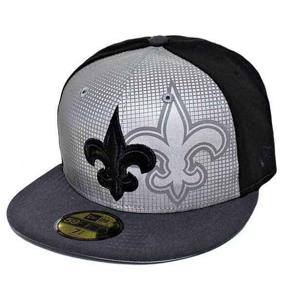 Boné New Era Aba Reta 5950 NFL Saints Reflective