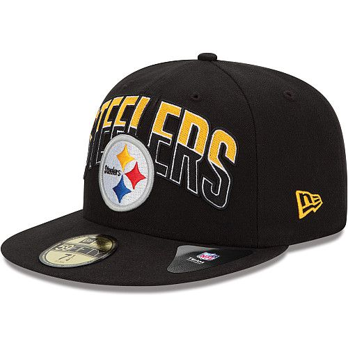 Boné New Era Aba Reta 5950 NFL Steelers Draft Team