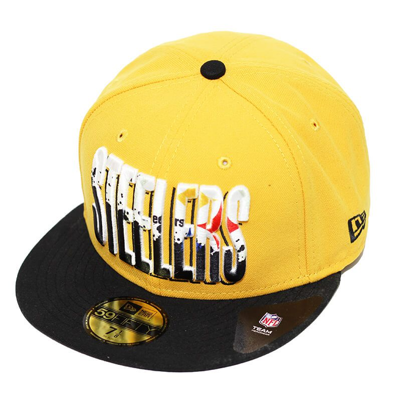 Boné New Era Aba Reta 5950 NFL Steelers Splatter Fill