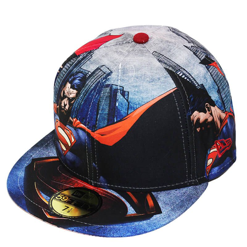 Boné New Era Aba Reta 5950 Superman All Over