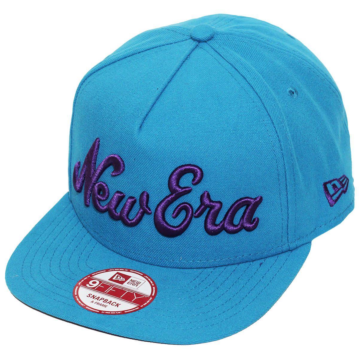 Boné New Era Aba Reta 950 SN Brand Bask Azul Claro
