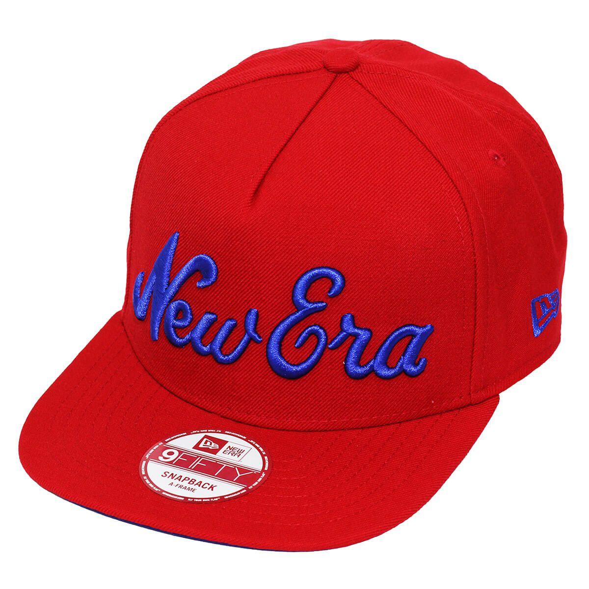 Boné New Era Aba Reta 950 SN Brand Bask Vermelho