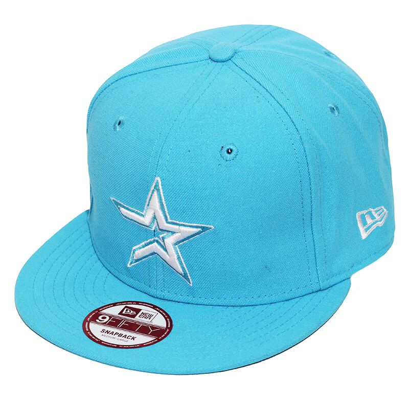 Boné New Era Aba Reta 950 SN MLB Astros Basic Colors Azul Claro