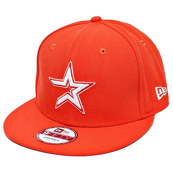 Boné New Era Aba Reta 950 SN MLB Astros Basic Colors Laranja