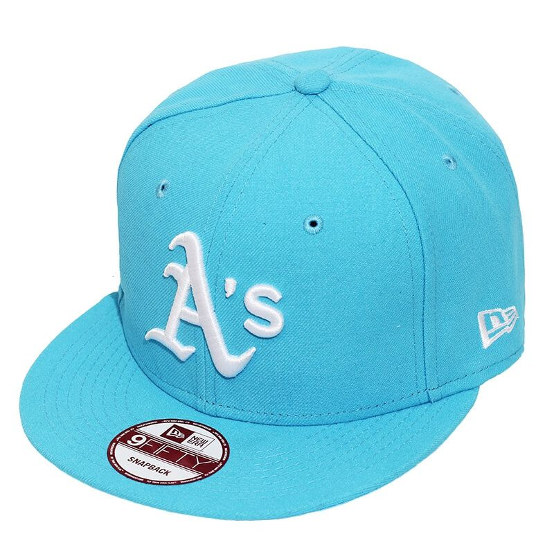Boné New Era Aba Reta 950 SN MLB Athletics Basic Colors Azul Claro
