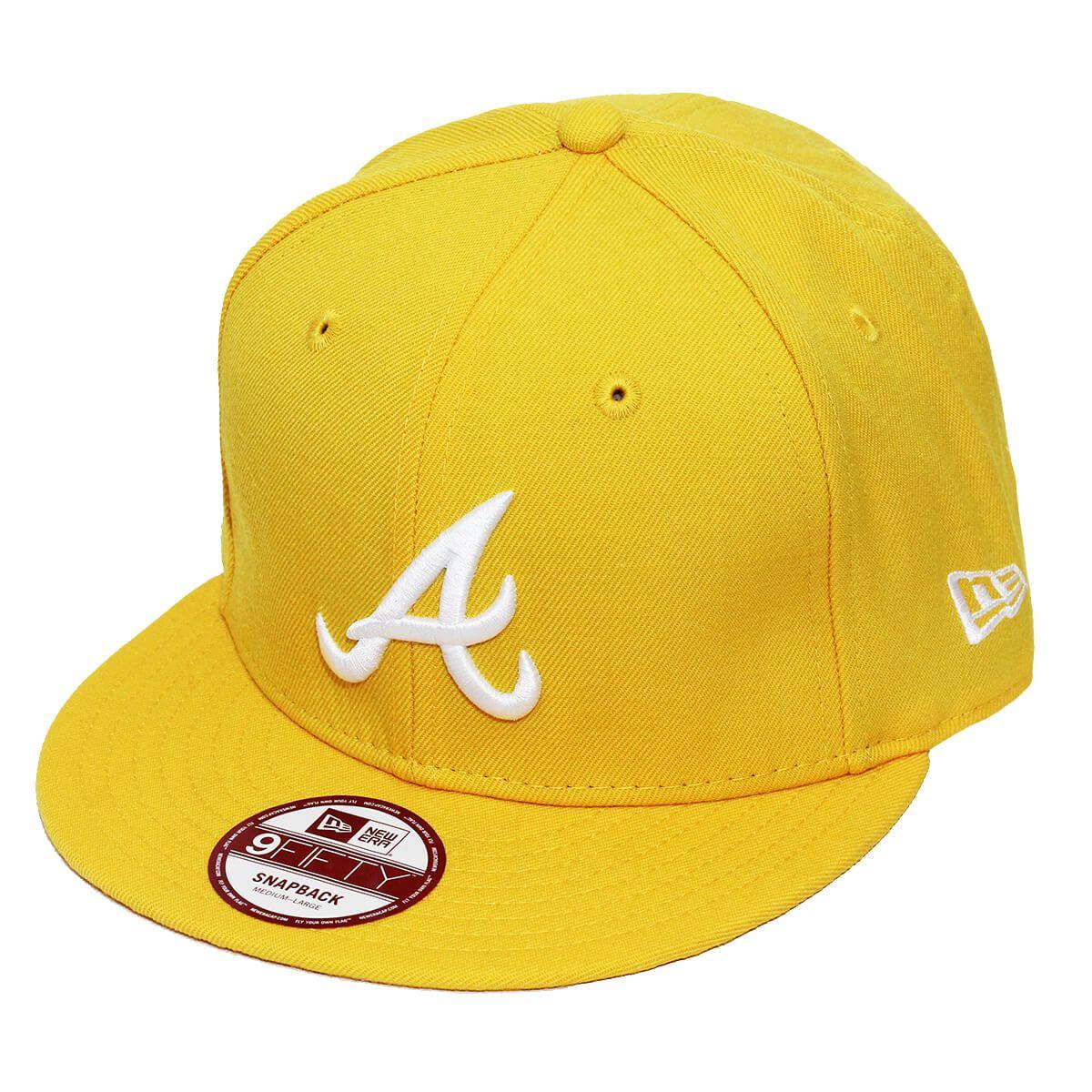 Boné New Era Aba Reta 950 SN MLB Atlanta Basic Colors Amarelo
