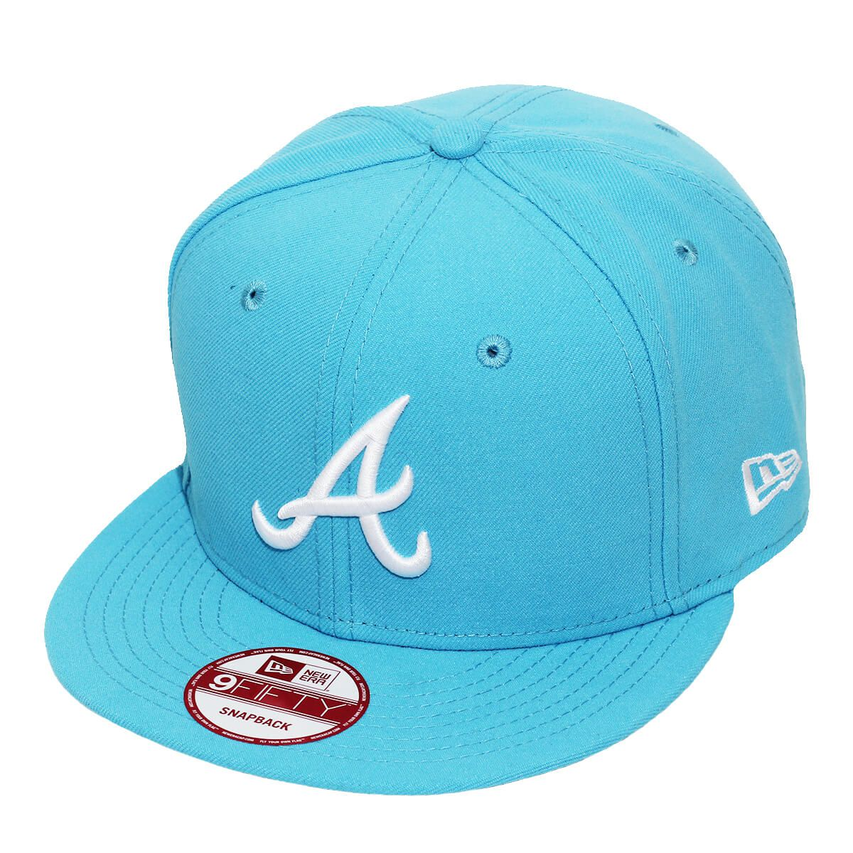 Boné New Era Aba Reta 950 SN MLB Atlanta Basic Colors Azul Claro