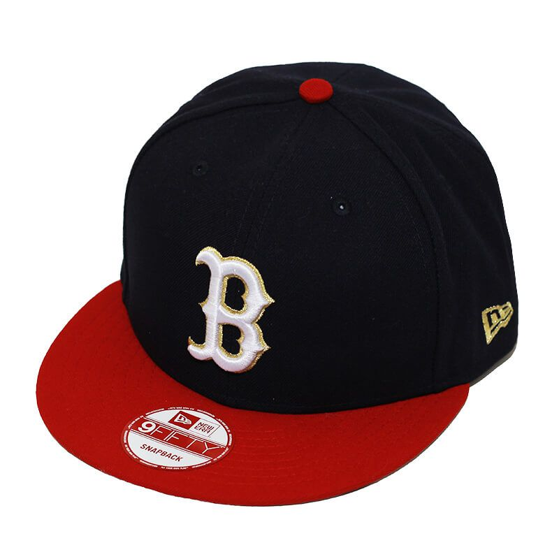 Boné New Era Aba Reta 950 SN MLB Boston Team Hasher Azul Escuro