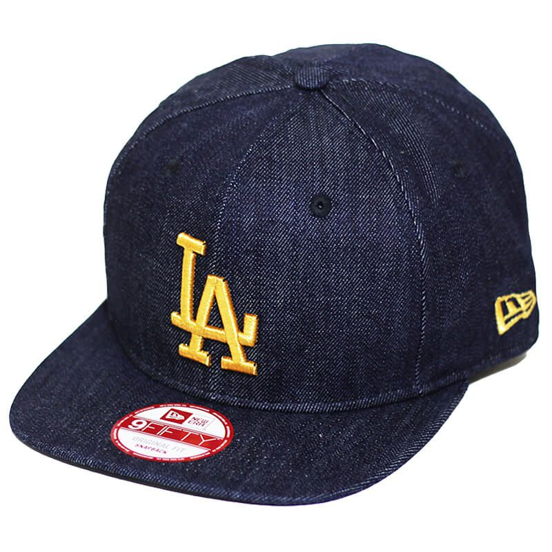 Boné New Era Aba Reta 950 SN MLB Los Angeles OF Denim Azul