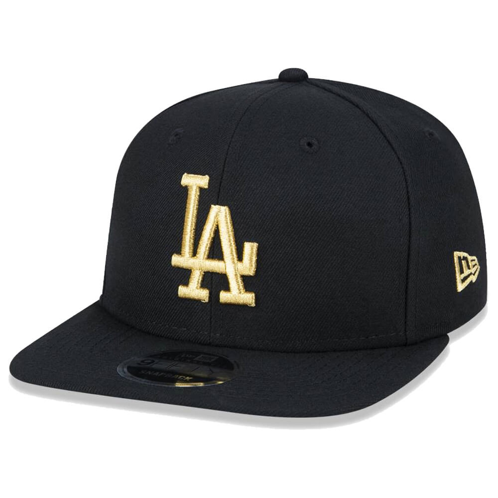 Boné New Era Aba Reta 950 SN MLB Los Angeles OF Gold Preto
