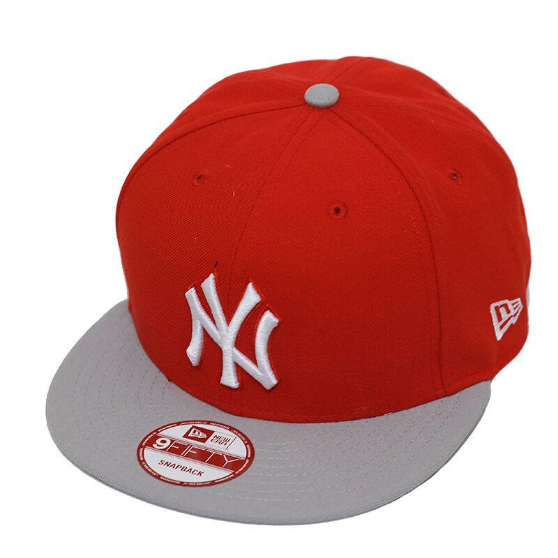 Boné New Era Aba Reta 950 SN MLB NY Yankees 2Tone League Vermelho