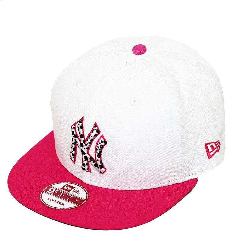 Boné New Era Aba Reta 950 SN MLB NY Yankees Leopard White Branco