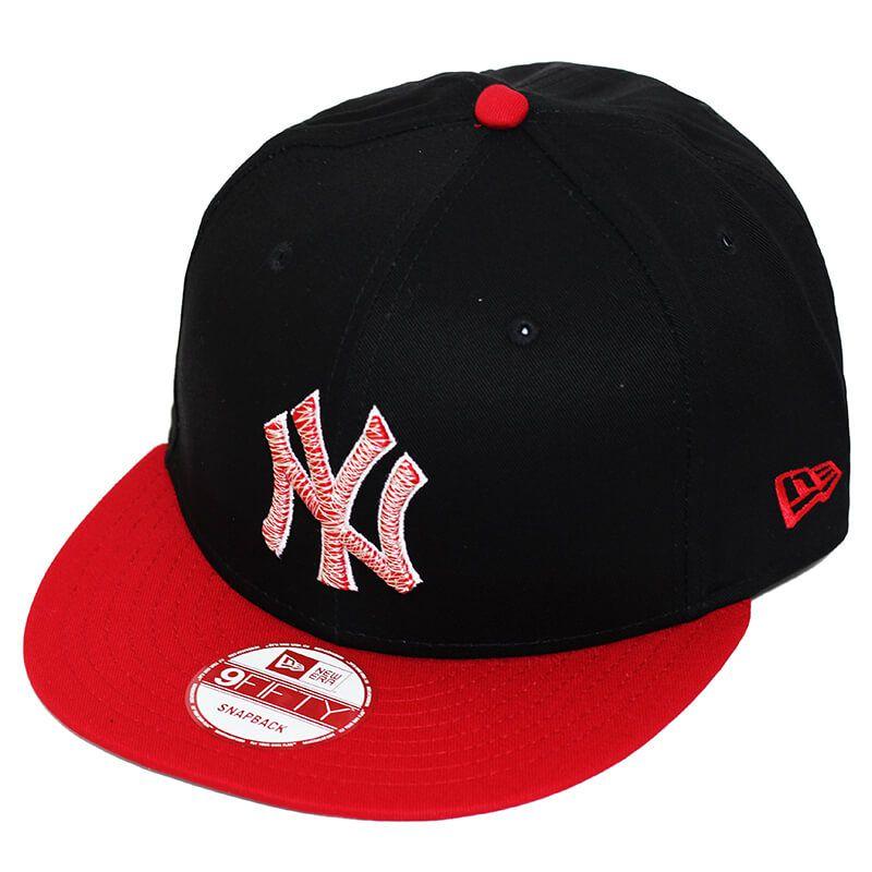 Boné New Era Aba Reta 950 SN MLB NY Yankees Luster Preto