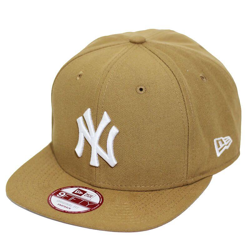Boné New Era Aba Reta 950 SN MLB NY Yankees OF Colors Marrom Claro