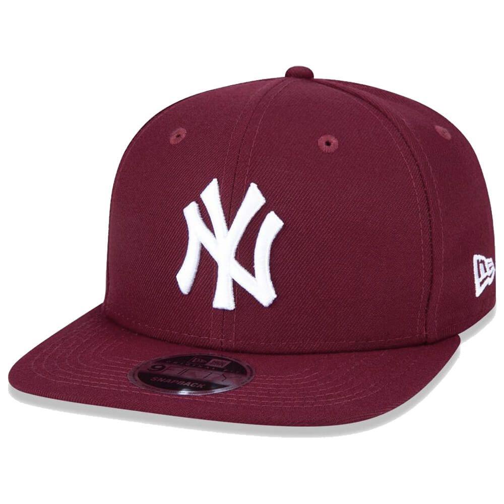 Boné New Era Aba Reta 950 SN MLB NY Yankees OF Colors Vinho