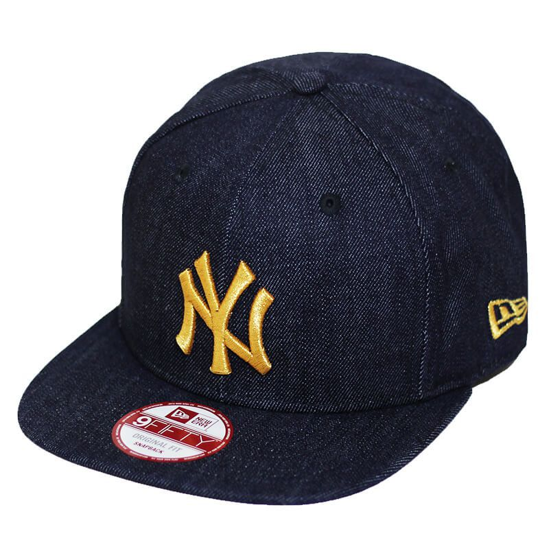 Boné New Era Aba Reta 950 SN MLB NY Yankees OF Denim Azul