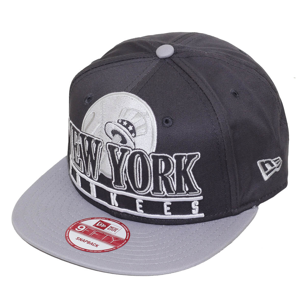 Boné New Era Aba Reta 950 SN MLB NY Yankees Stack Punch Cinza