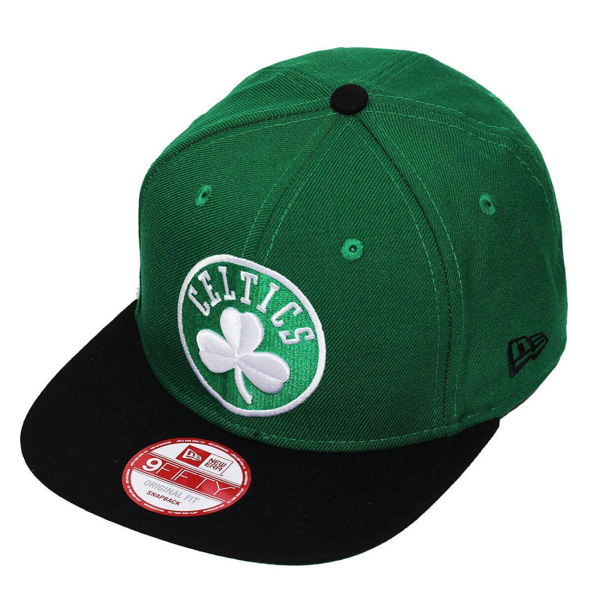 Boné New Era Aba Reta 950 SN NBA Celtics 2Tone Verde