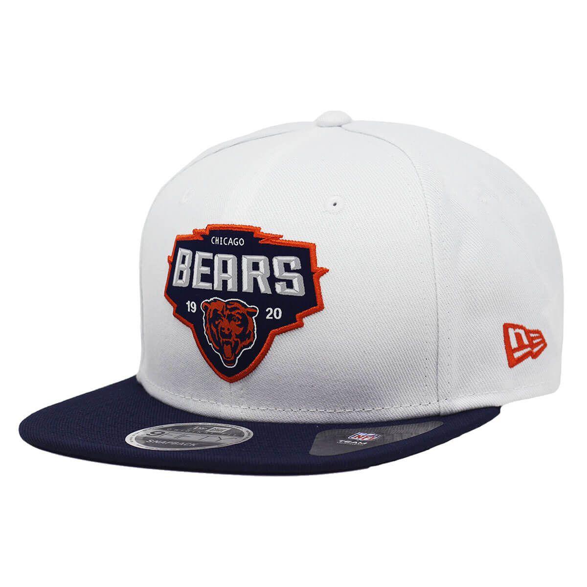 Boné New Era Aba Reta 950 SN NFL Bears Team White