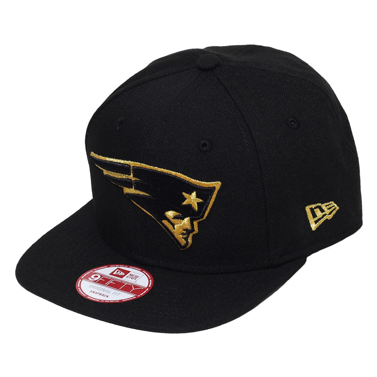 Boné New Era Aba Reta 950 SN NFL Patriots OF Gold Preto