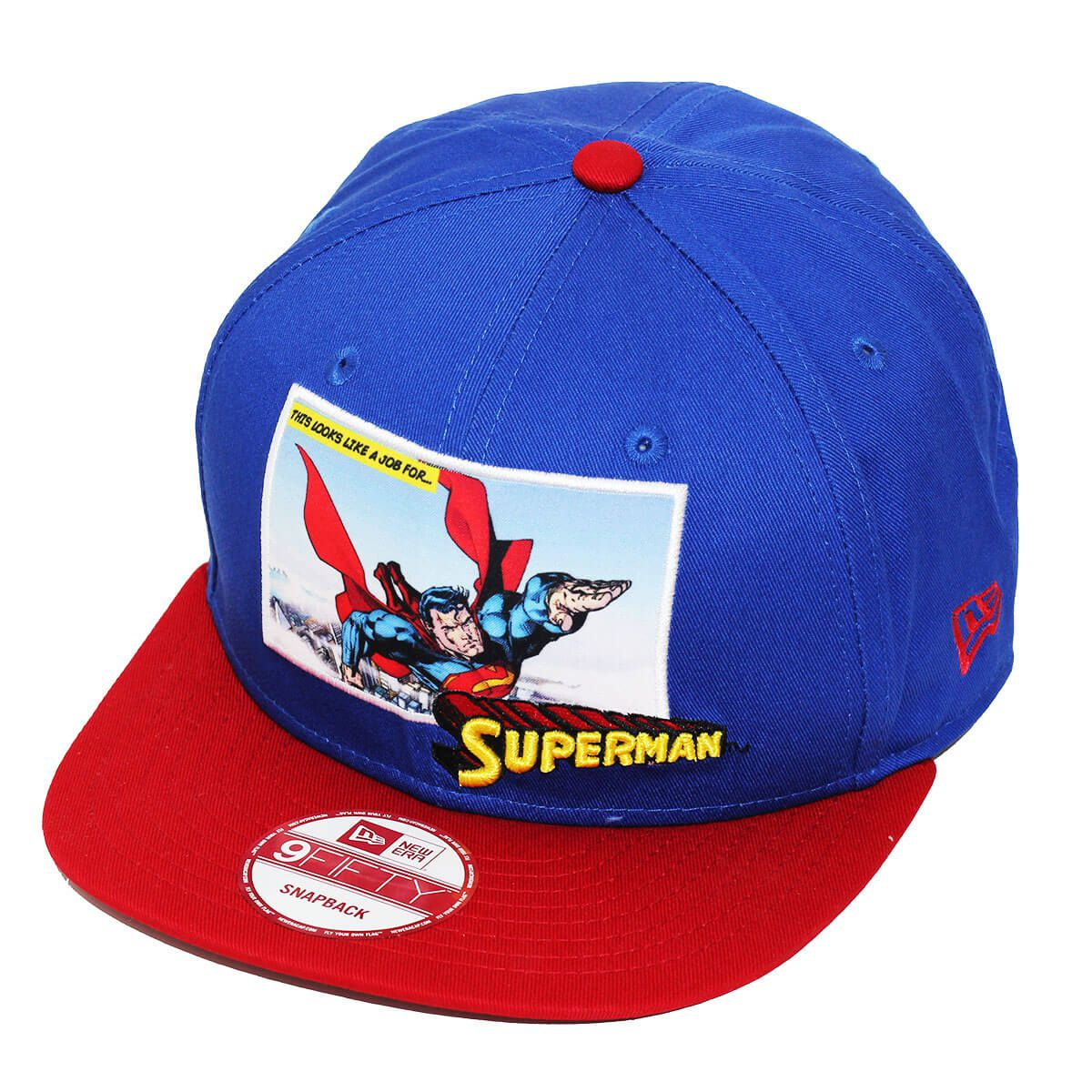 Boné New Era Aba Reta 950 SN Superman Panel