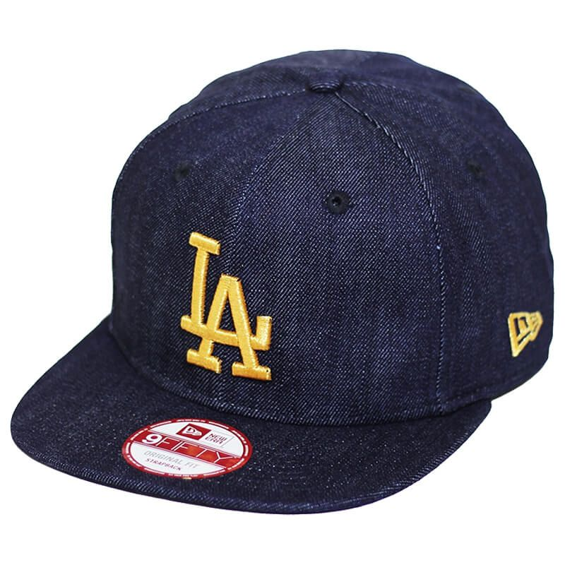 Boné New Era Aba Reta 950 ST MLB Los Angeles OF Denim Azul Escuro