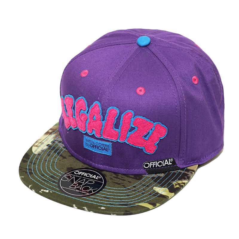 Boné Official Aba Reta Snapback Legalize Real Woody Roxo