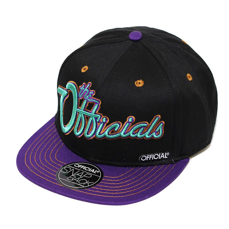 Boné Official Aba Reta Snapback The Officials Preto
