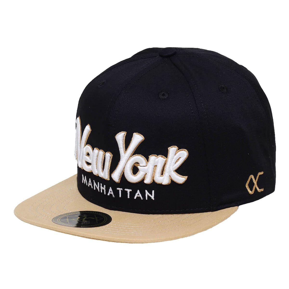 Boné Other Culture Aba Reta Snapback City New York Preto