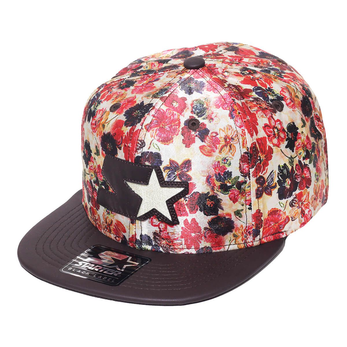 Boné Starter Aba Reta Snapback Floral Brown
