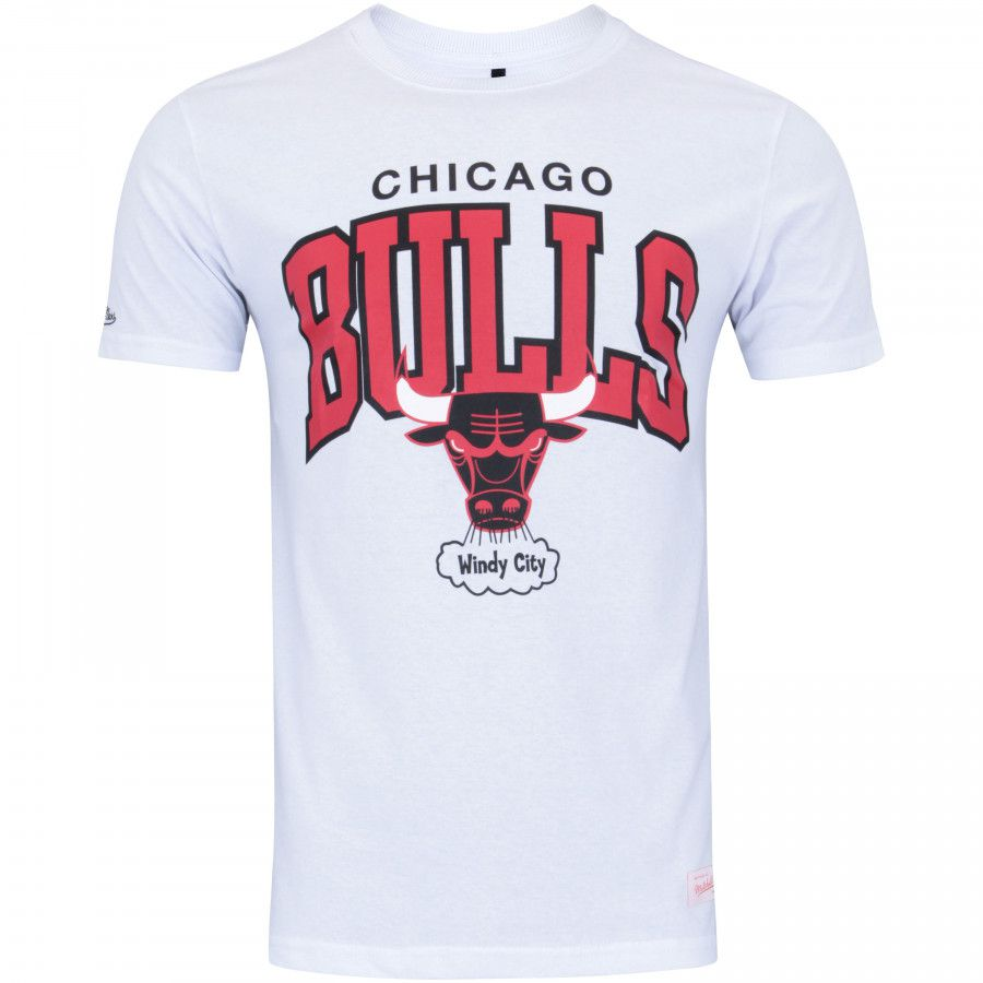 Camiseta Mitchell & Ness NBA Chicago Bulls Team Arch Branco
