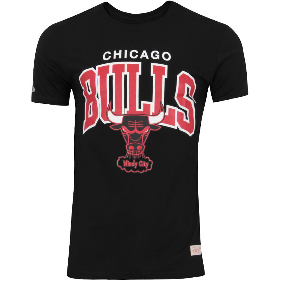 Camiseta Mitchell & Ness NBA Chicago Bulls Team Arch Preto