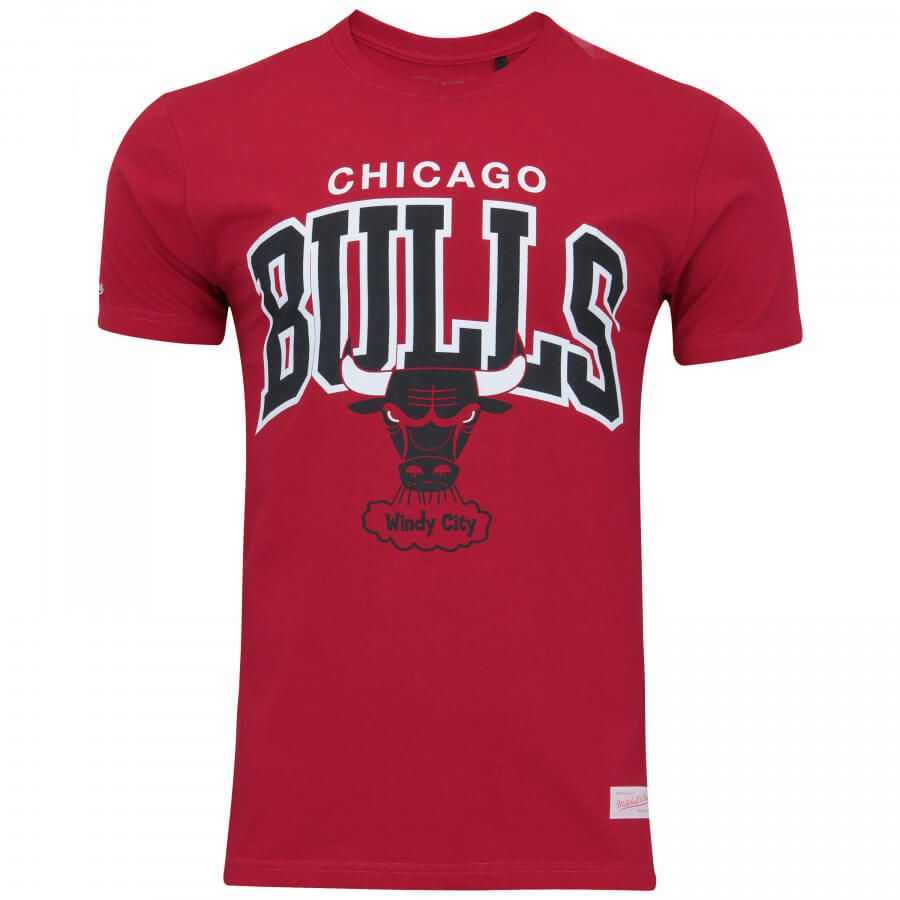 Camiseta Mitchell & Ness NBA Chicago Bulls Team Arch Vermelho