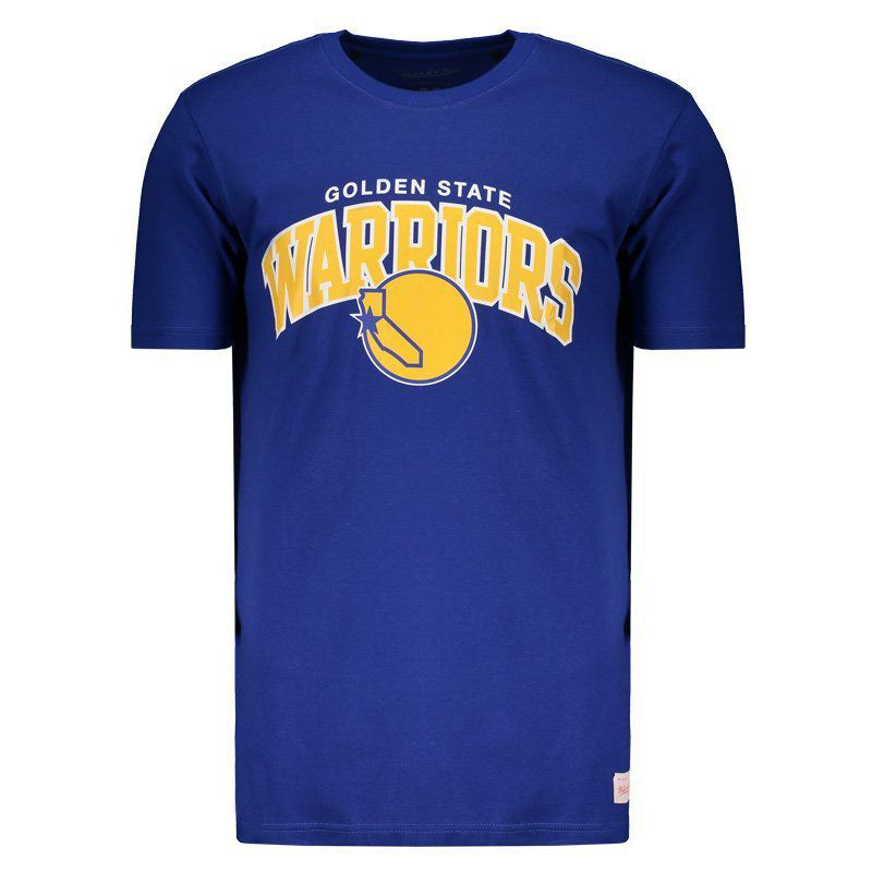 Camiseta Mitchell & Ness NBA Golden State Warriors Team Arch Azul
