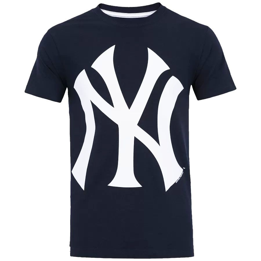 Camiseta New Era MLB NY Yankees Big Logo Azul Escuro